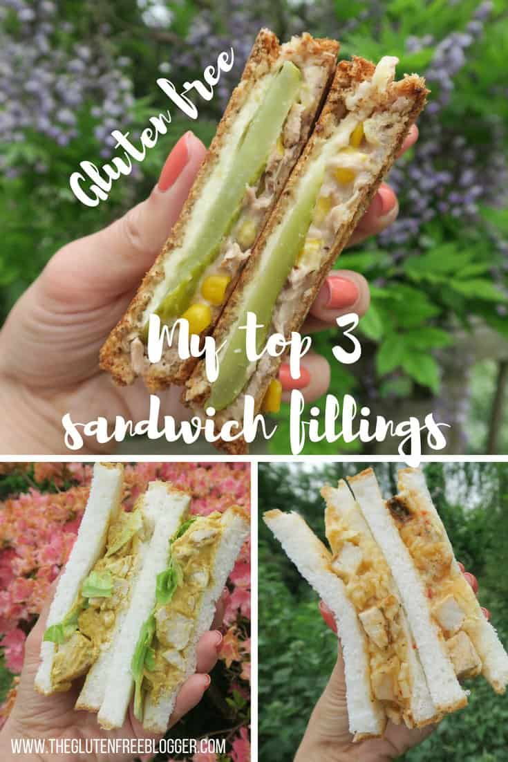 gluten free sandwich fillings - sandwich ideas - lunch ideas - coronation chicken - tuna melt- chicken tikka recipe - coeliac disease