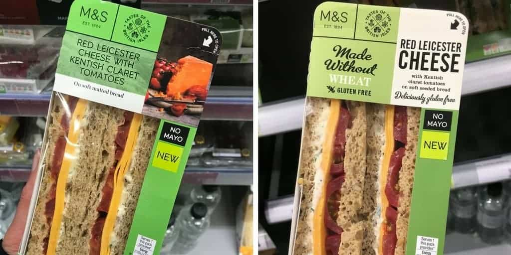 gluten free sandwiches marks and spencer