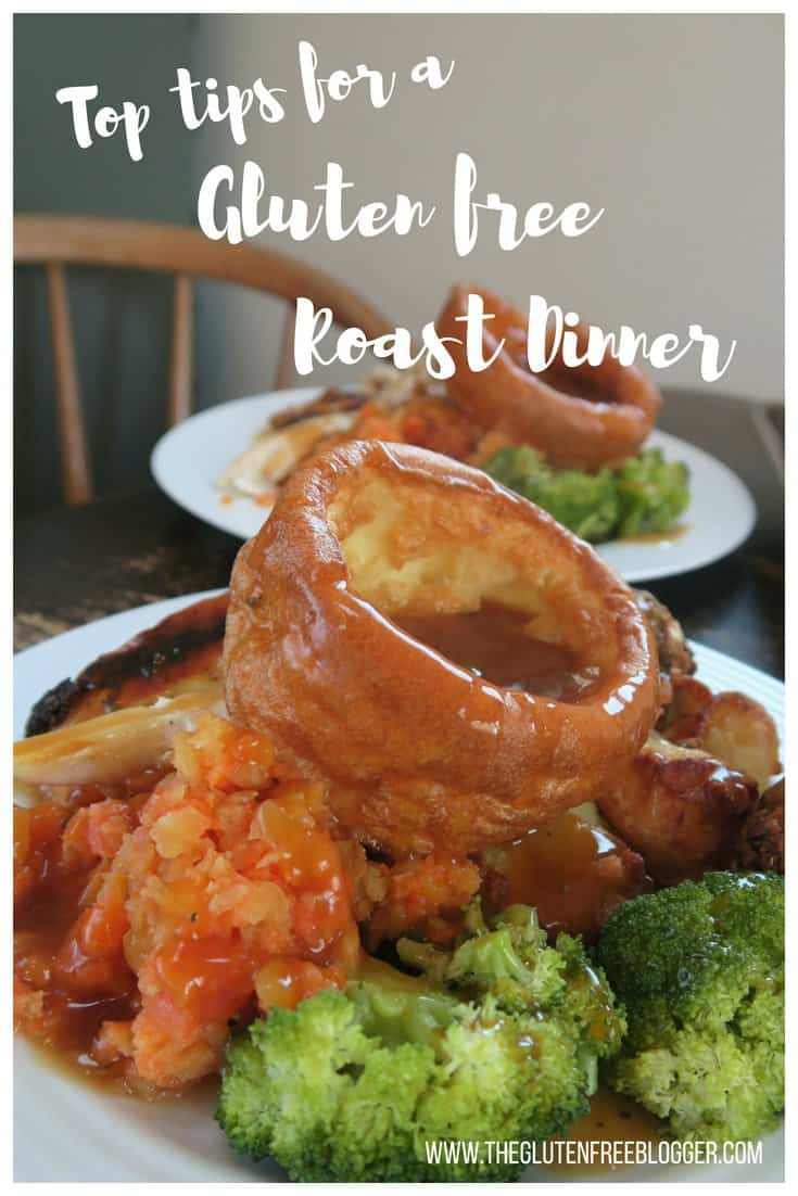 top tips for a gluten free roast dinner - coeliac disease - celiac disease - gluten free yorkshire puddings