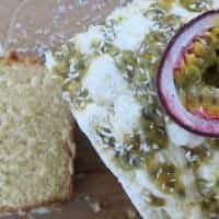 gluten free coconut and passionfruit loaf cake recipe 43