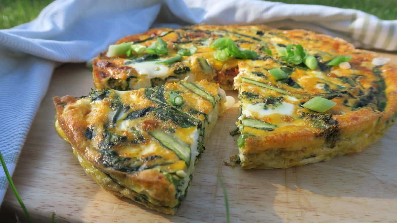 gluten free frittata recipe asparagus chorizo goats cheese