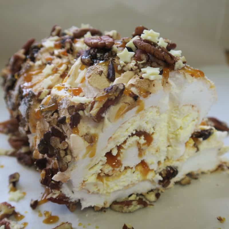 GLUTEN FREE TOFFEE AND PECAN ROULADE 61 square