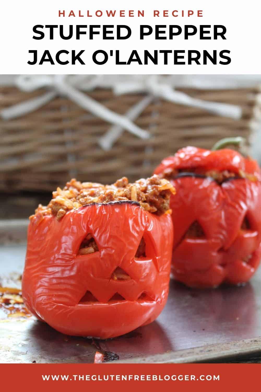 Halloween stuffed pepper jack o'lanterns