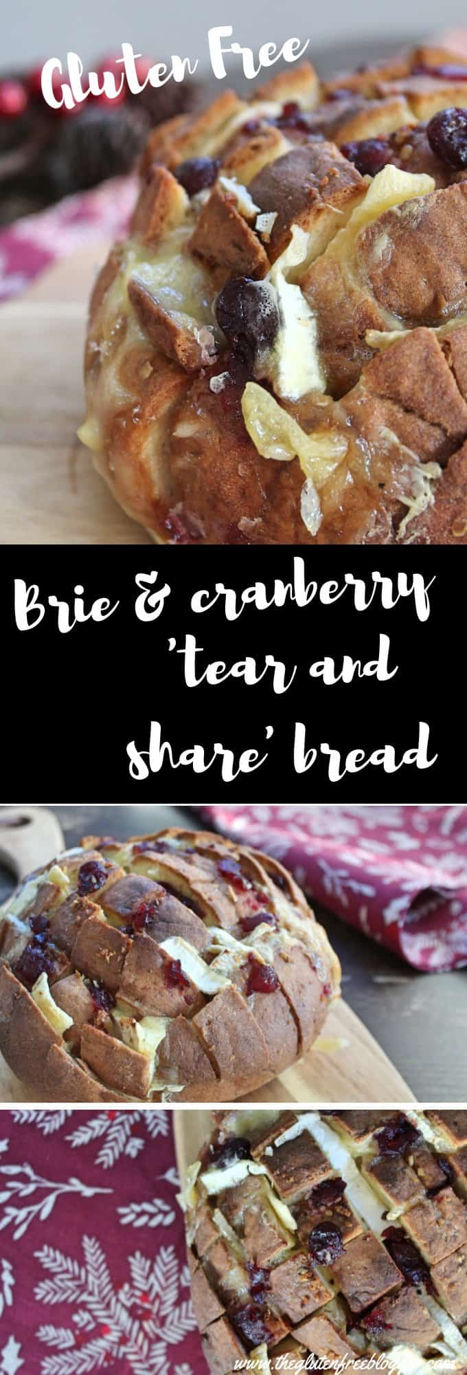 gluten free bread - tear and share bread - gluten free party food - christmas food