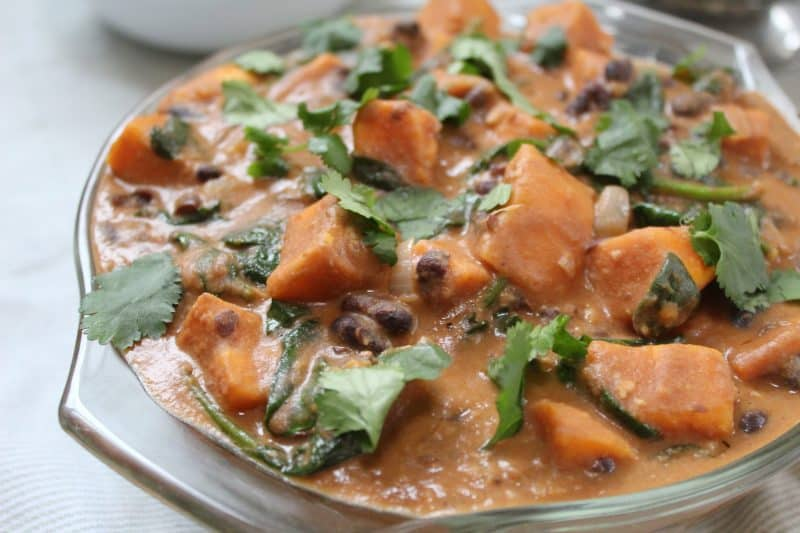 GLUTEN FREE VEGAN RECIPE PEANUT AND SWEET POTATO STEW