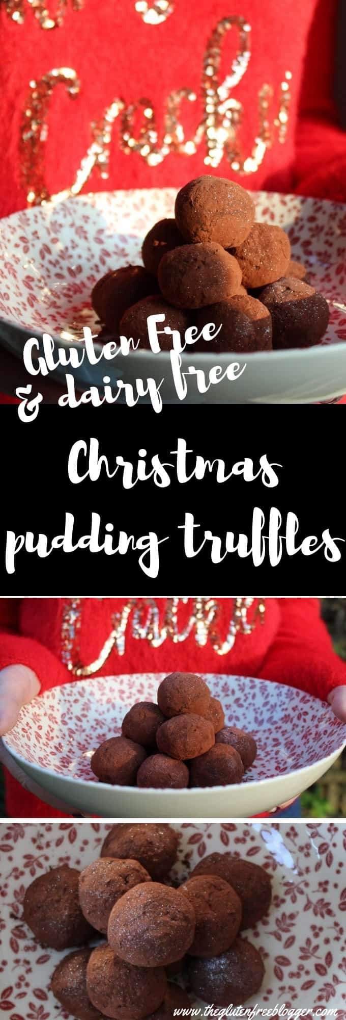 gluten free dairy free christmas pudding truffles - edible christmas gifts - DIY christmas