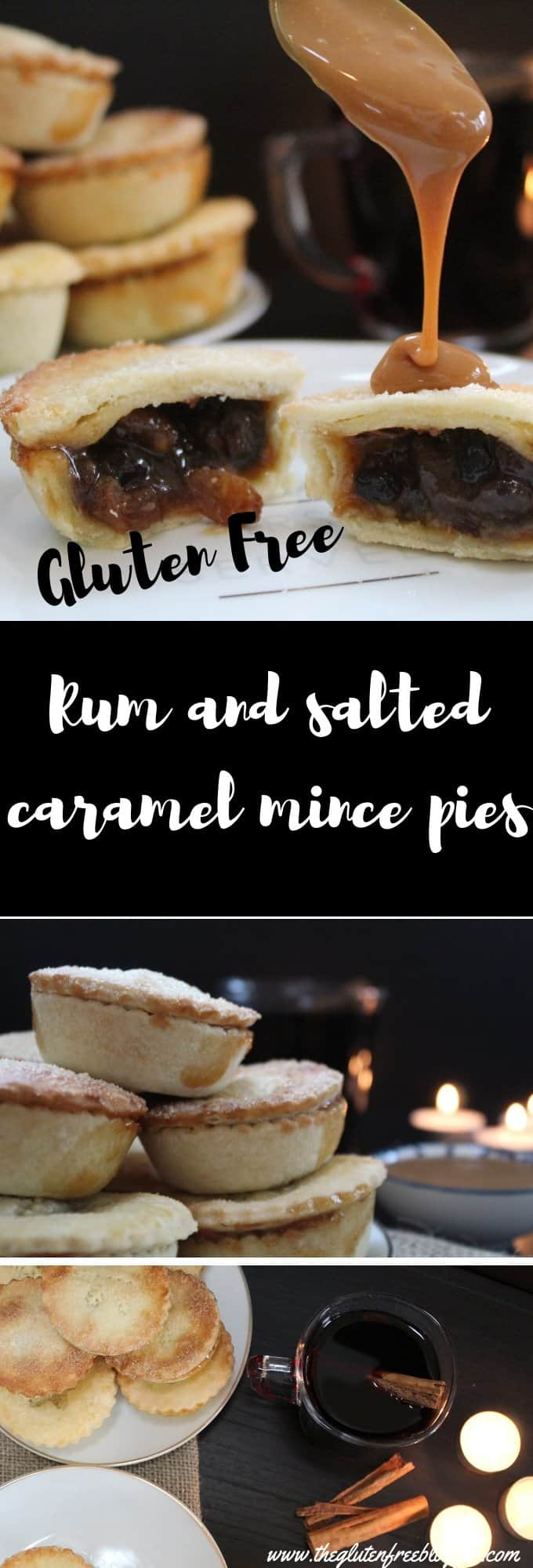 gluten free rum and salted caramel mince pies - coeliac friendly - gluten free christmas recipe