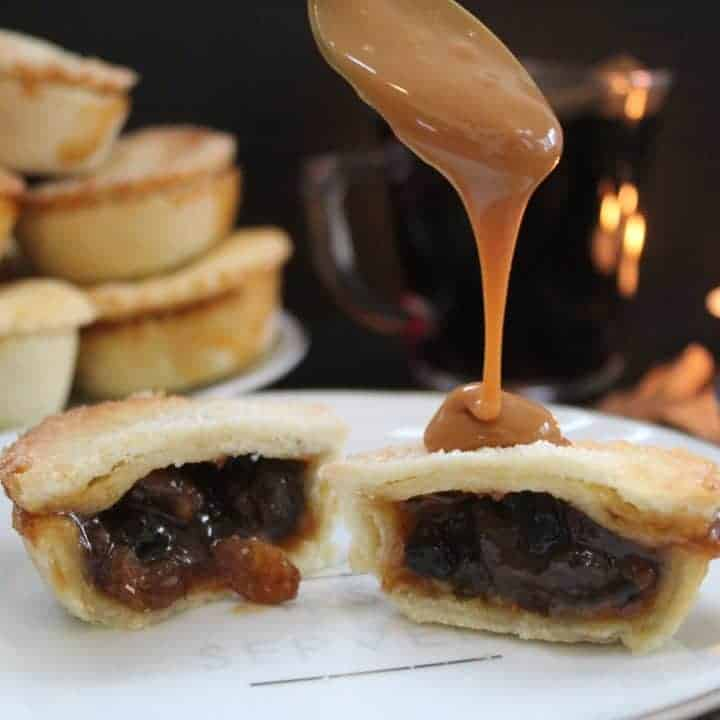 gluten free rum and salted caramel mince pies recipe
