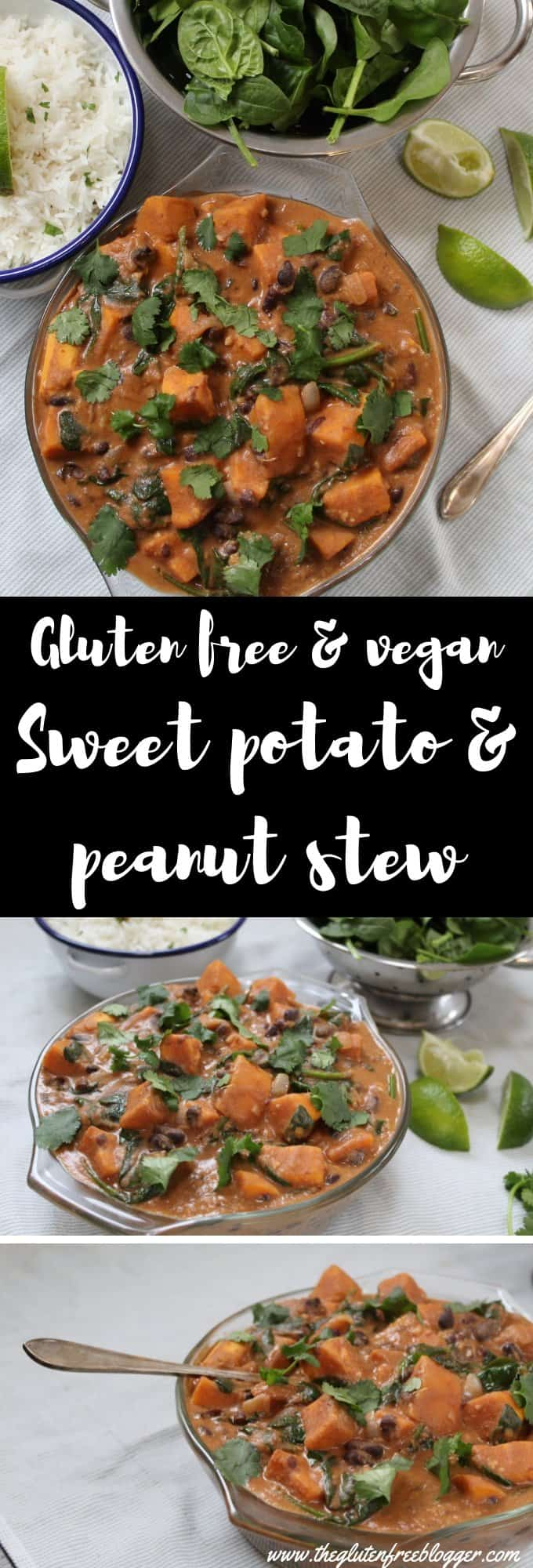 gluten free vegan recipe sweet potato black bean peanut dairy free vegetarian dinner inspiration easy recipe