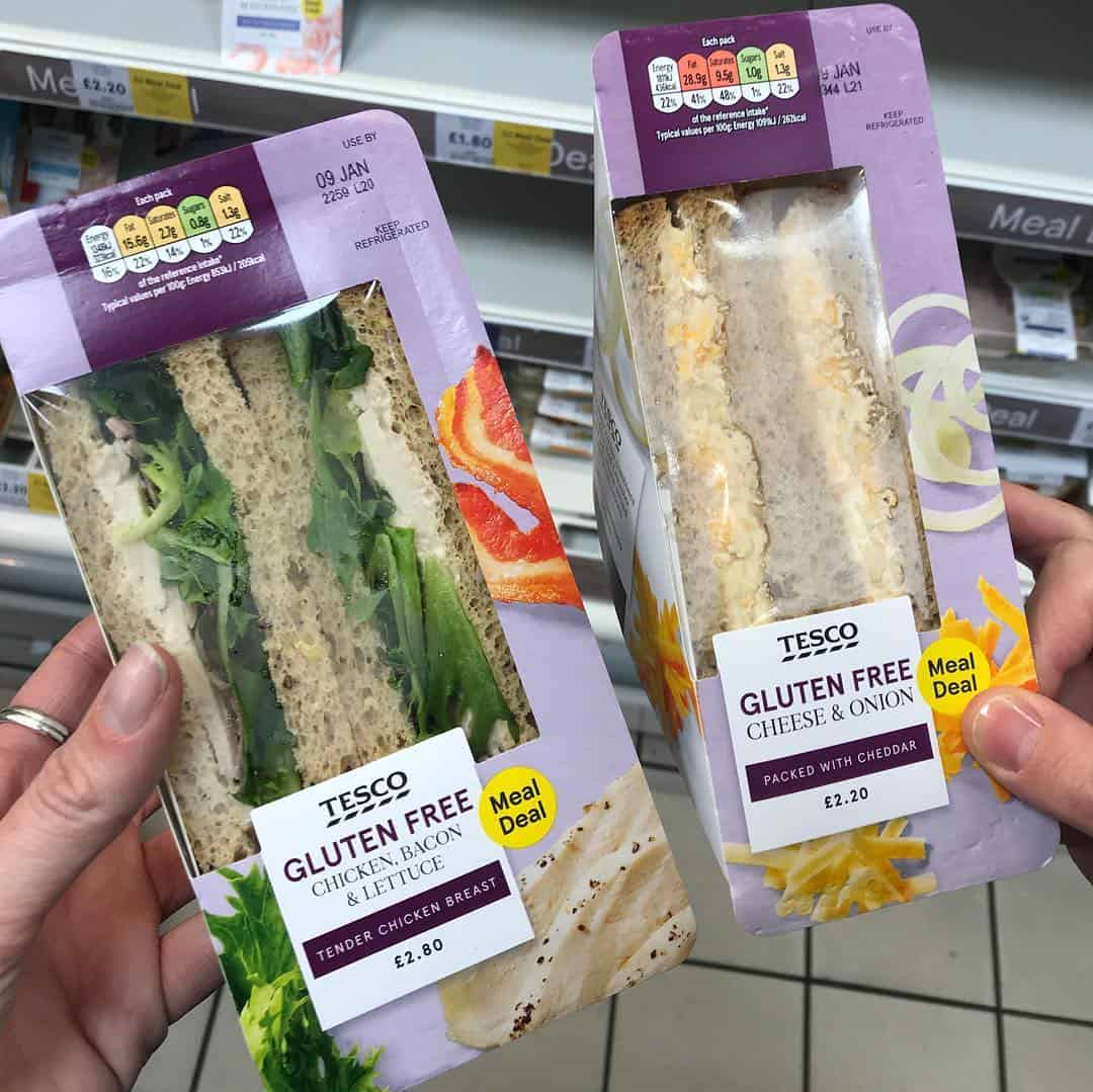 tesco gluten free sandwiches meal deal