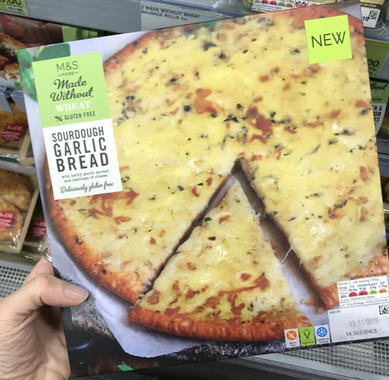 marks and spencer gluten free garlic bread