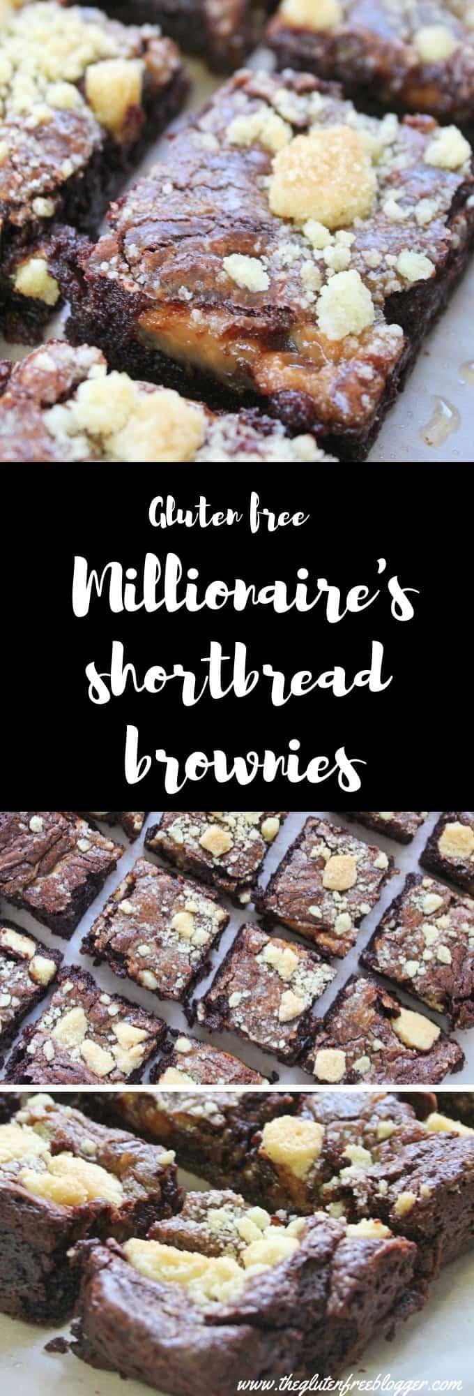 gluten free millionaire's shortbread brownies recipe - desserts - coeliac - easy fudgy brownies