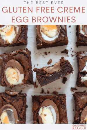 gluten free creme egg brownies