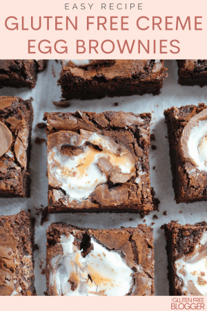 gluten free creme egg brownies