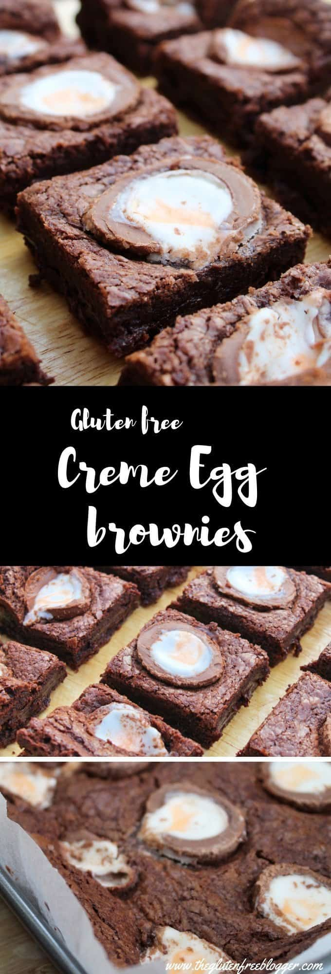 gluten free creme egg brownies recipe - desserts - coeliac - easy fudgy brownies