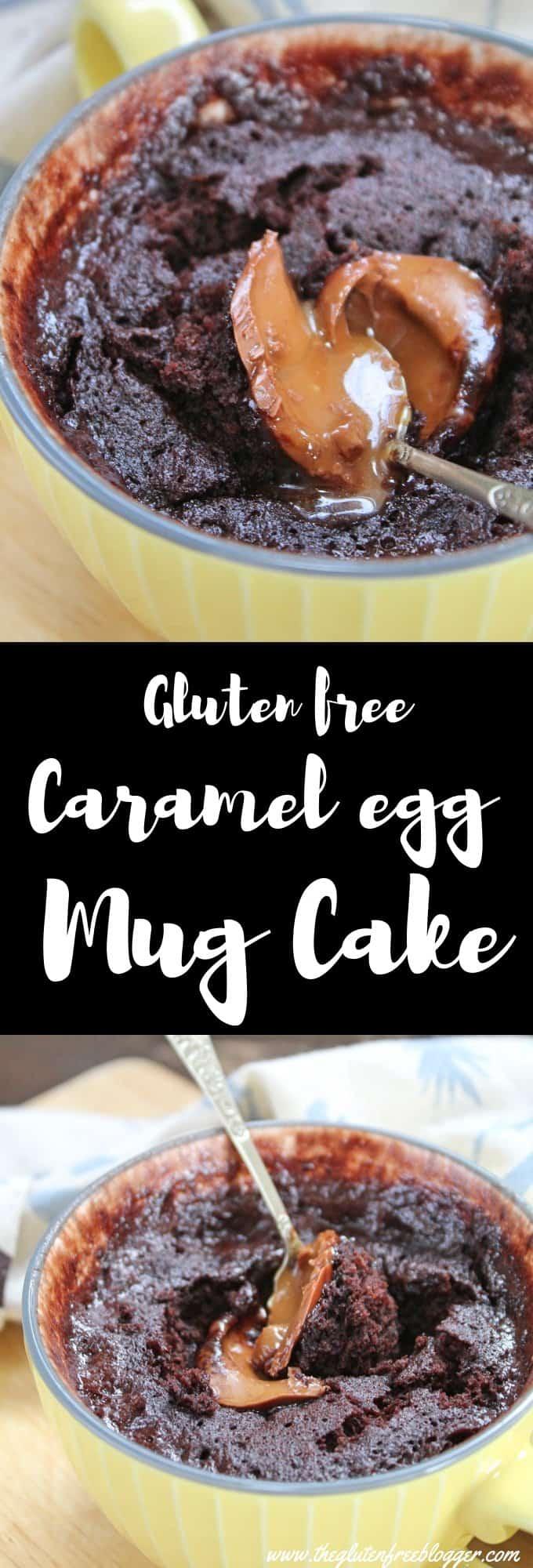 gluten free caramel egg mug cake recipe