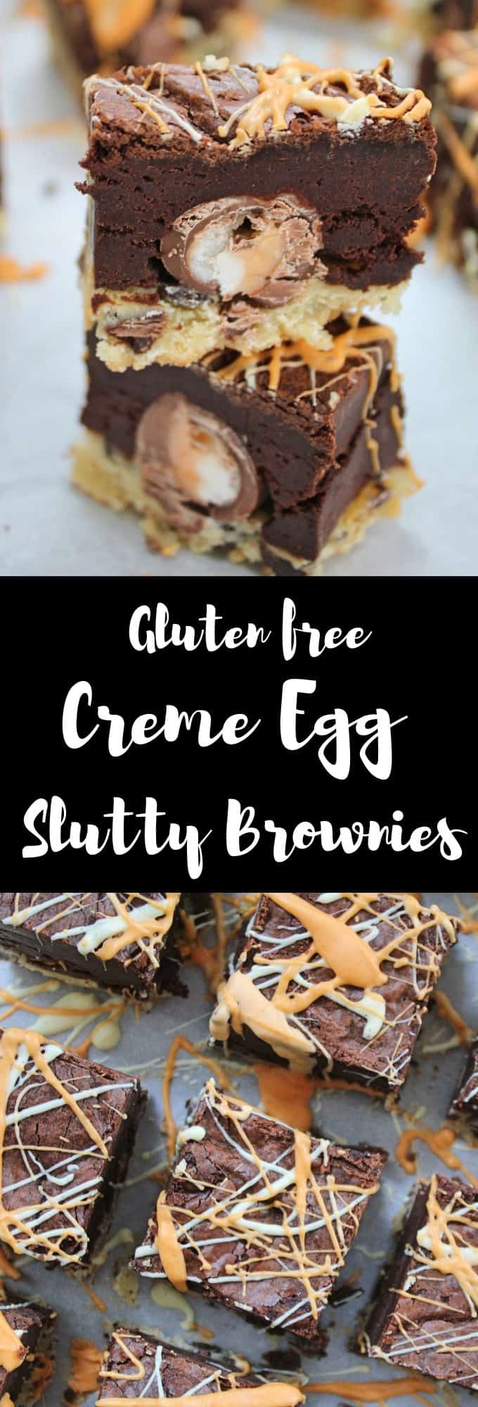 gluten free creme egg slutty brownies recipe easter coelliac
