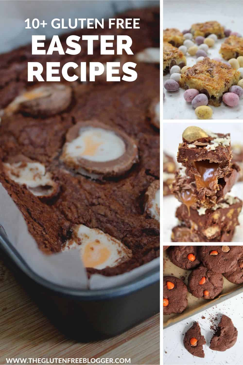 gluten free easter recipes cakes bakes creme egg brownies mini eggs holiday recipes cooking with children recipe round-up
