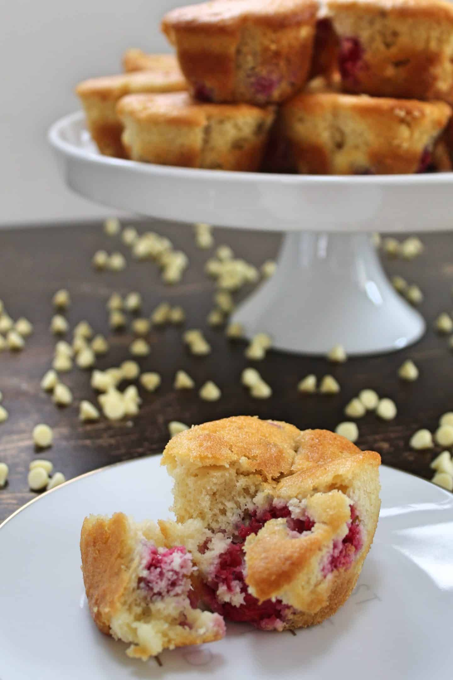 gluten free raspberry and white chocolate muffins 92 edit 2