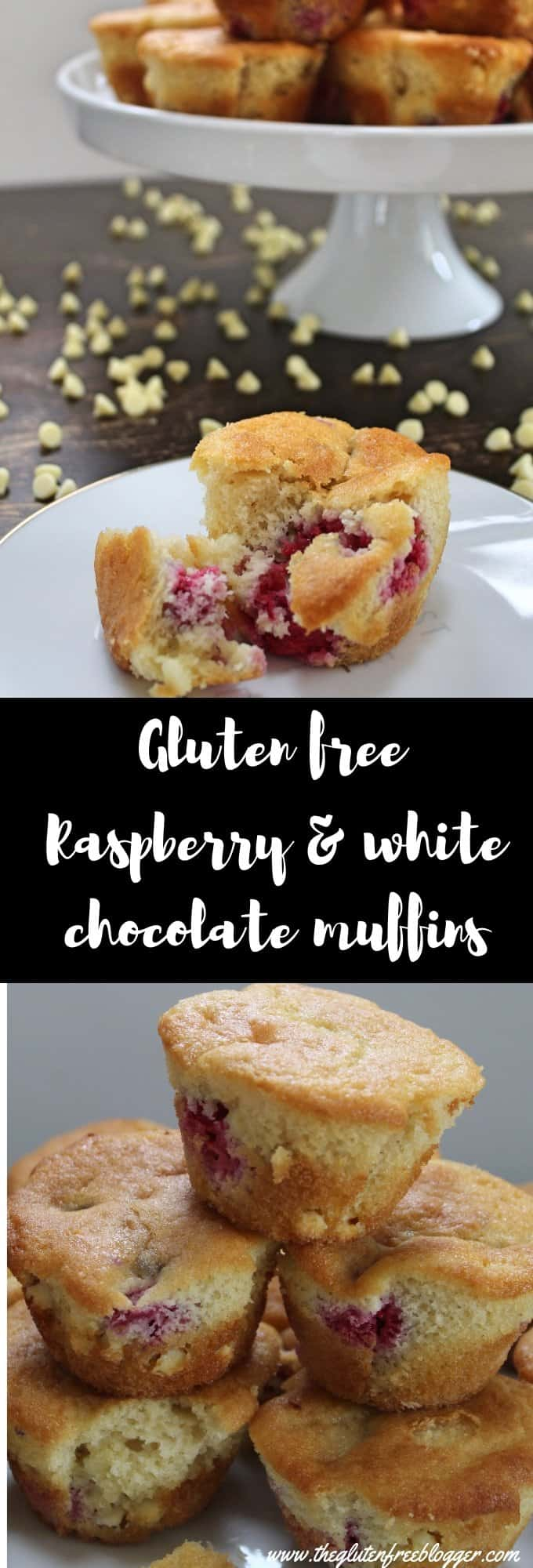 gluten free white chocolate and raspberry muffins recipe