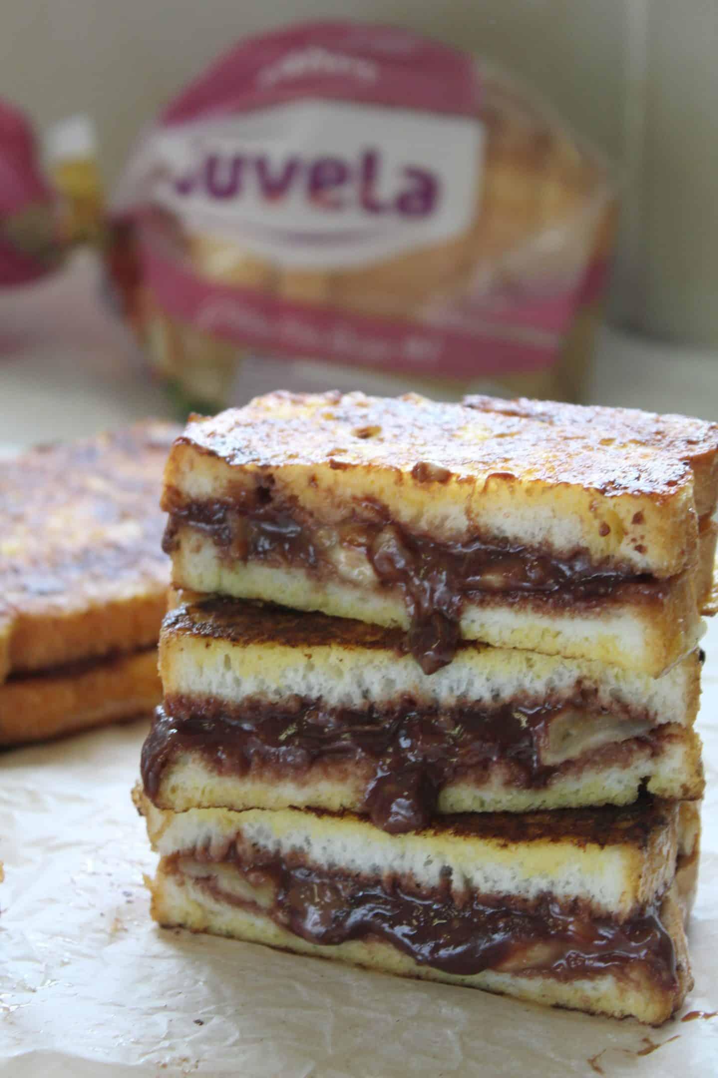 gluten free banana chocolate french toast 31