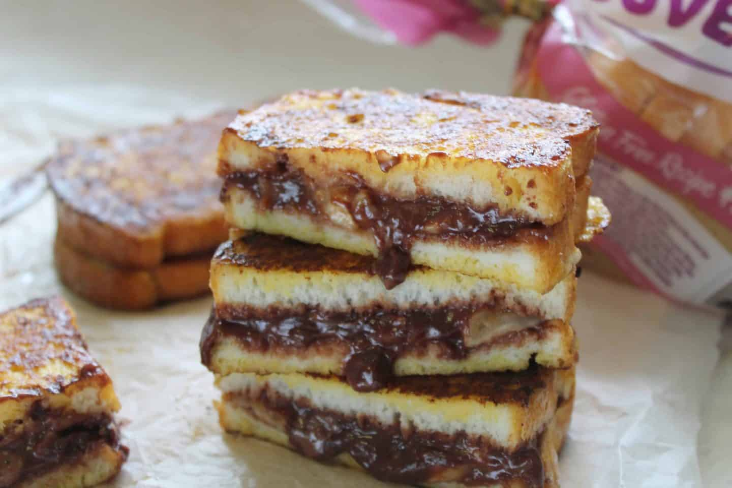 gluten free banana chocolate french toast 55 final square