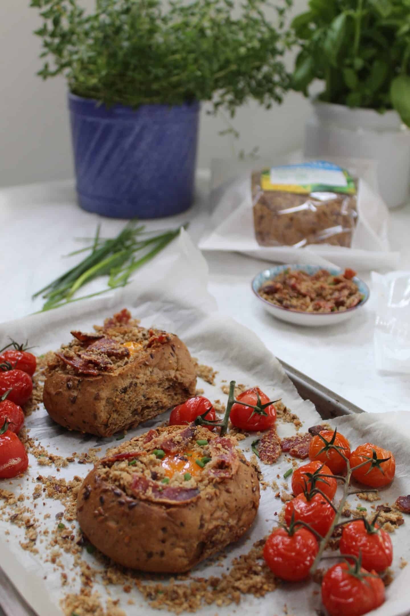 gluten free bread baskets with egg