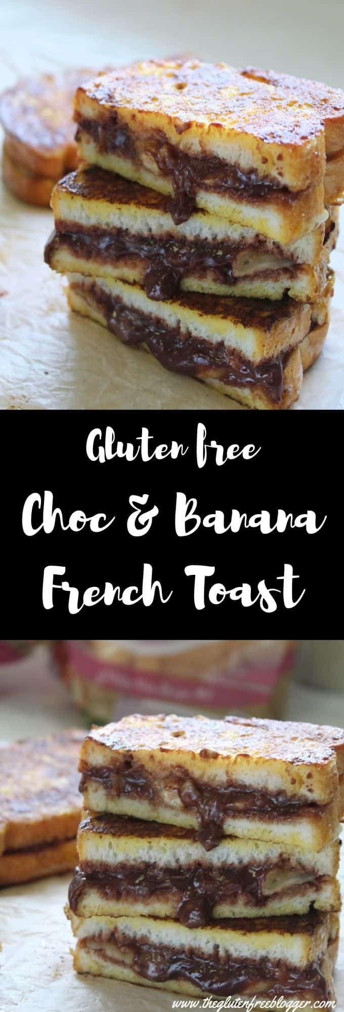 gluten free chocolate and banana french toast recipe coeliac celiac brunch
