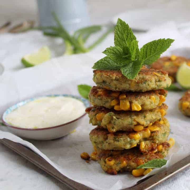 gluten free chickpea and sweetcorn fritters recipe