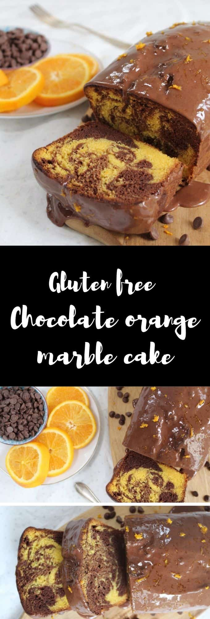 gluten free chocolate orange marble cake recipe coeliac celiac easy bake