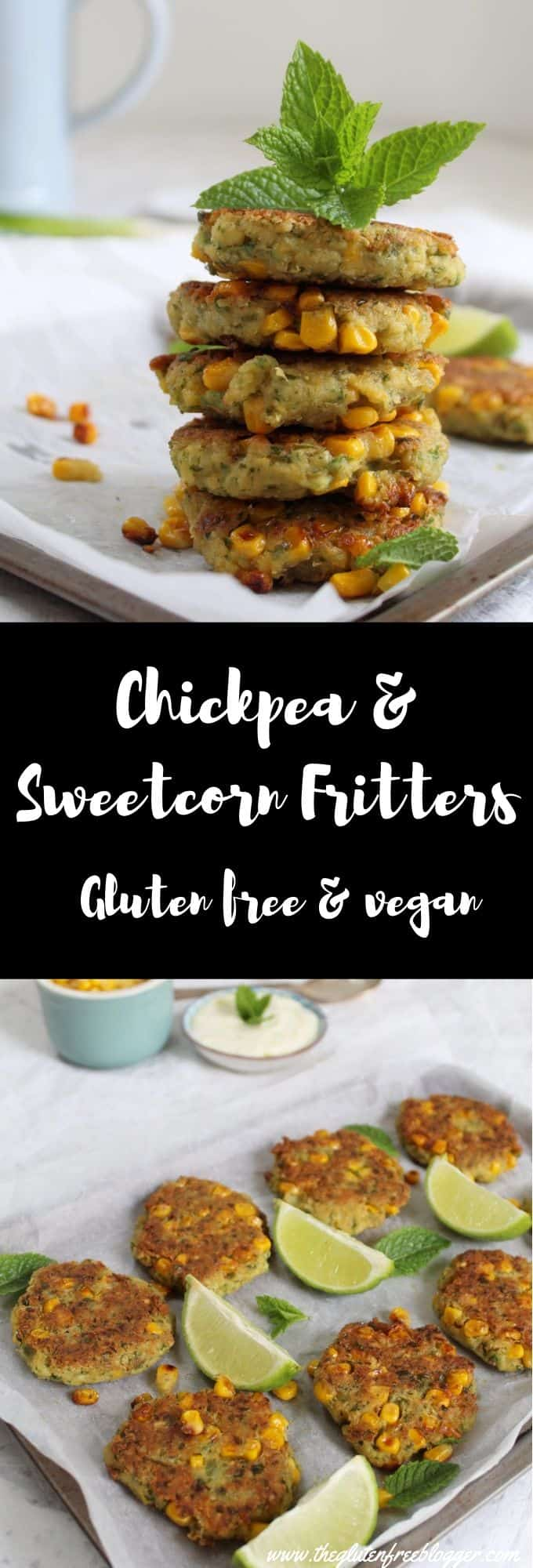 gluten free dairy free vegan and vegetarian chickpea and sweetcorn fritters (1)