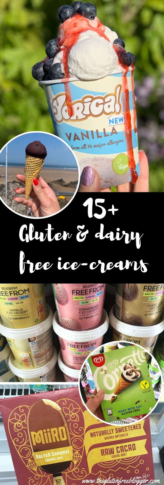 gluten free ice-creams and ice lollies UK 2019 - vegan ice-creams - cornetto - gluten and dairy free ice-creams