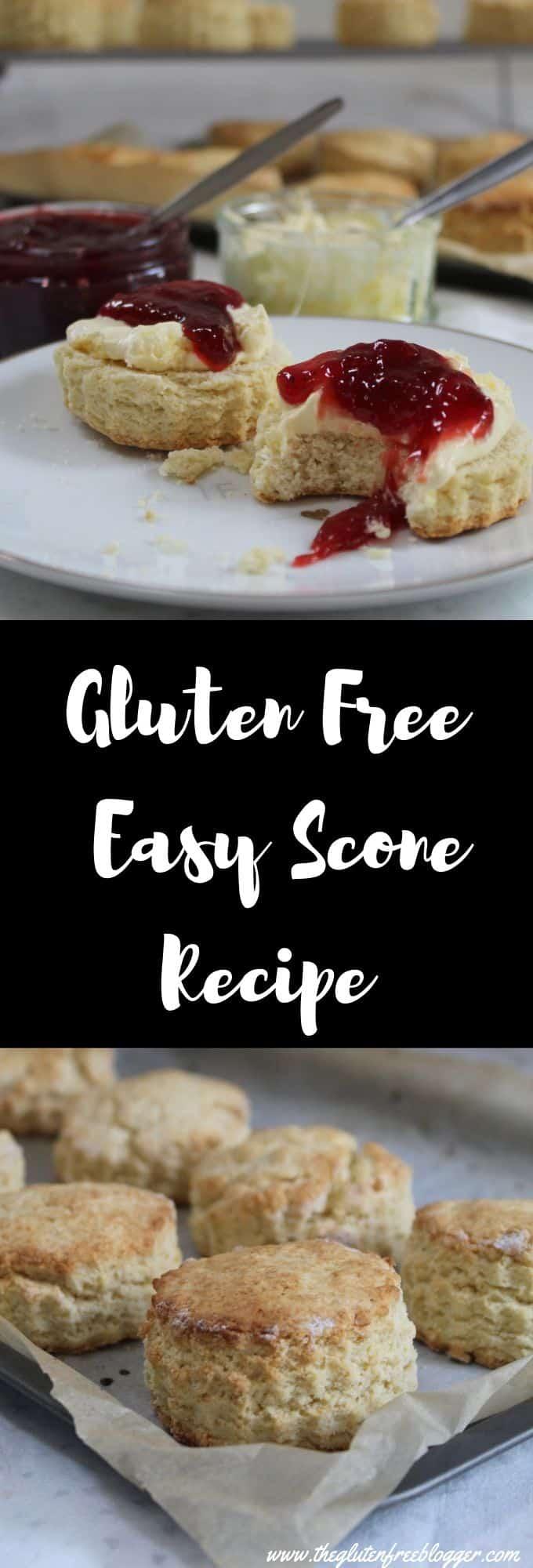 gluten free scone recipe - plain scone recipe - gluten free cream tea - coeliac celiac - easy baking recipe