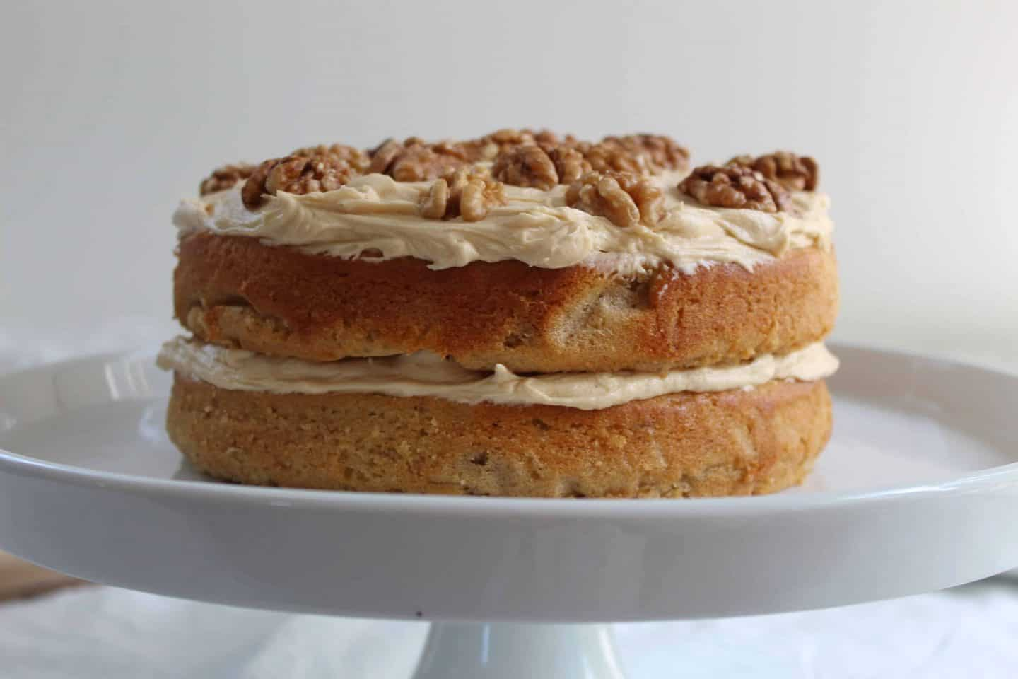 GLUTEN FREE COFFEE AND WALNUT CAKE RECIPE WITH BUTTERMILK