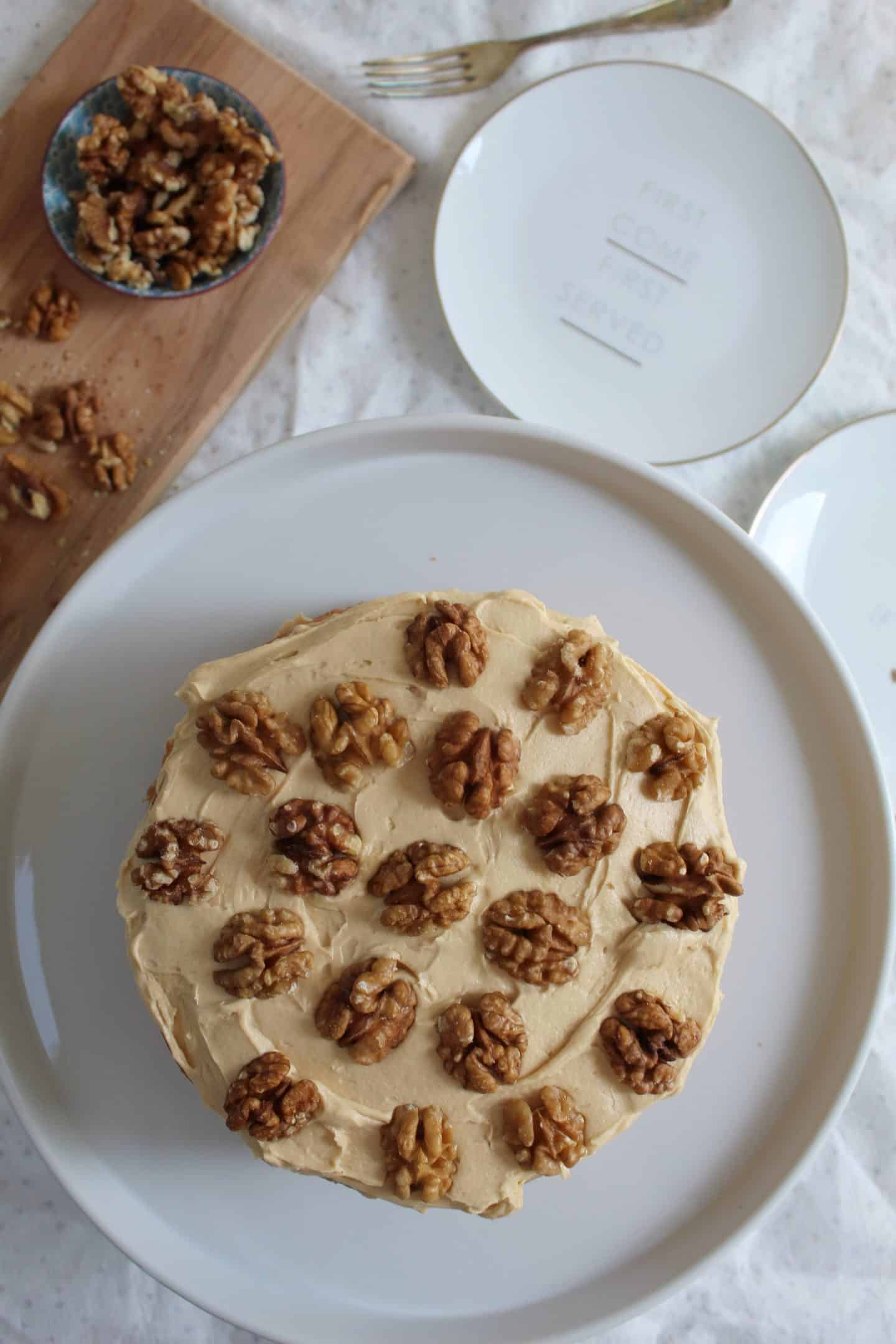 GLUTEN FREE COFFEE AND WALNUT CAKE RECIPE WITH BUTTERMILK 10