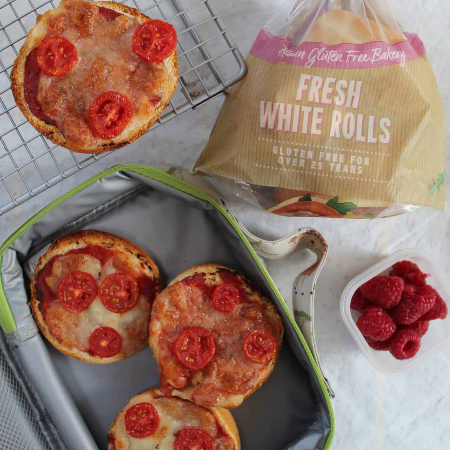 gluten free children's lunch ideas mini pizzas