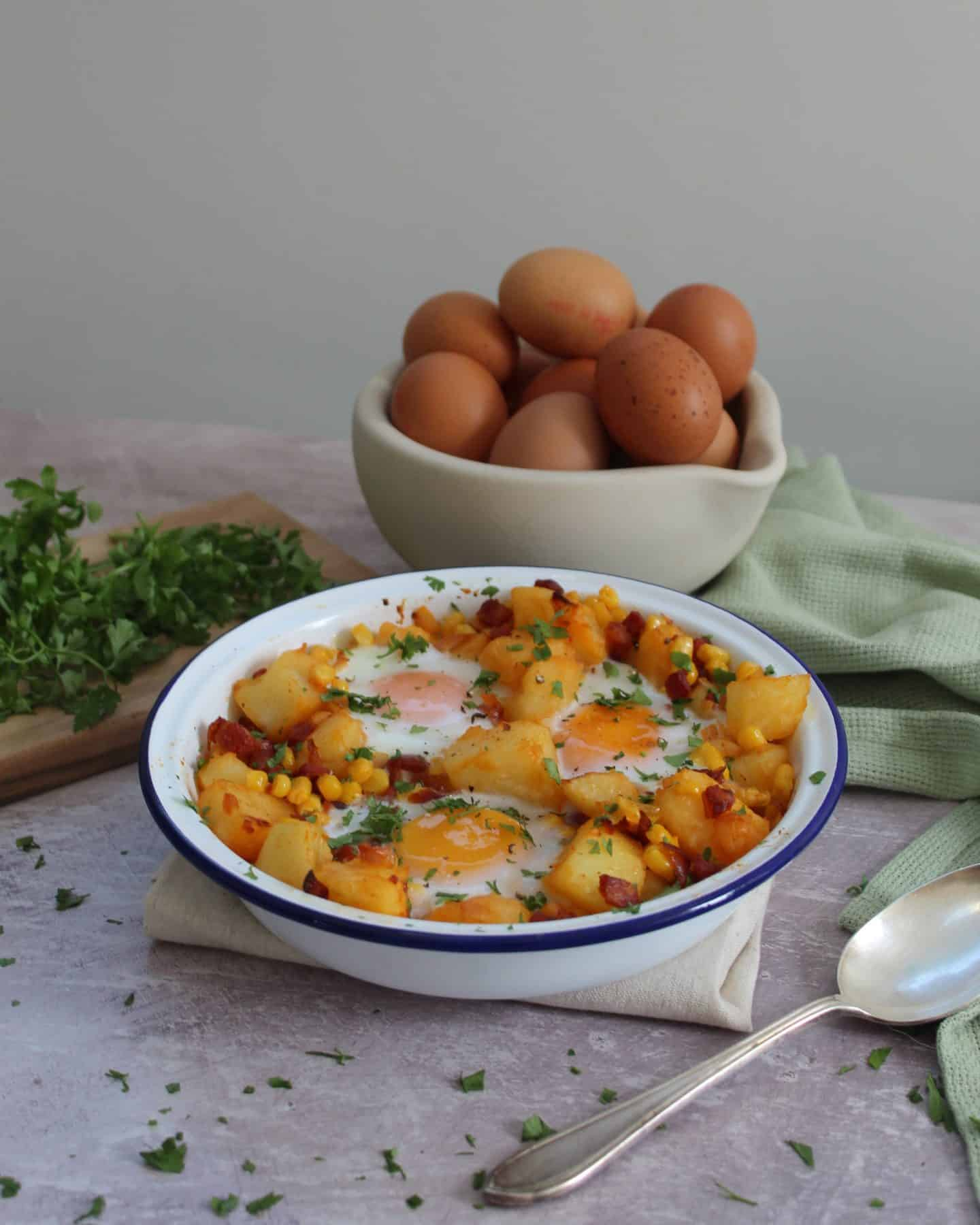 chorizo and sweetcorn hash recipe