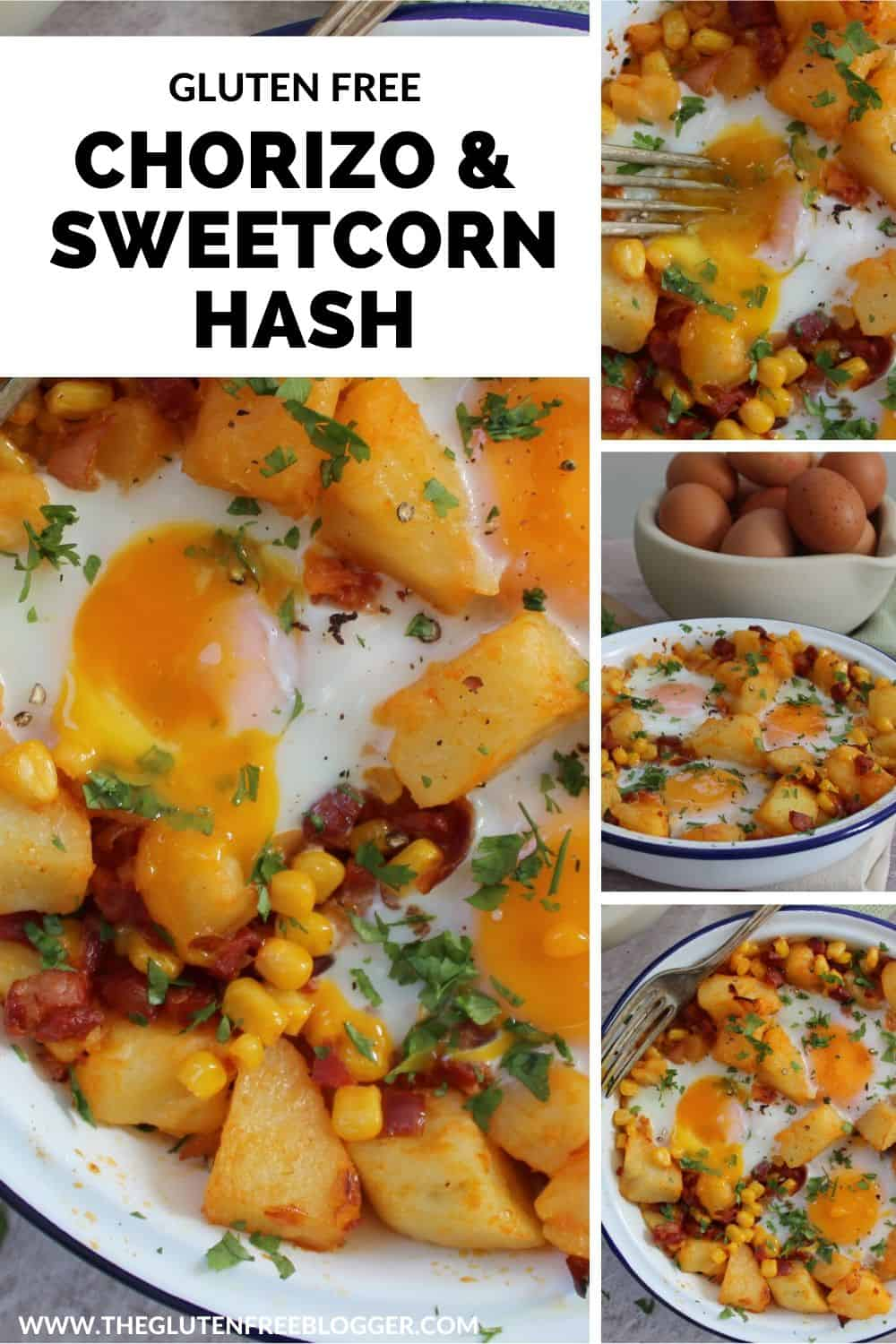 gluten free chorizo and sweetcorn hash recipe dairy free easy brunch lunch dinner idea