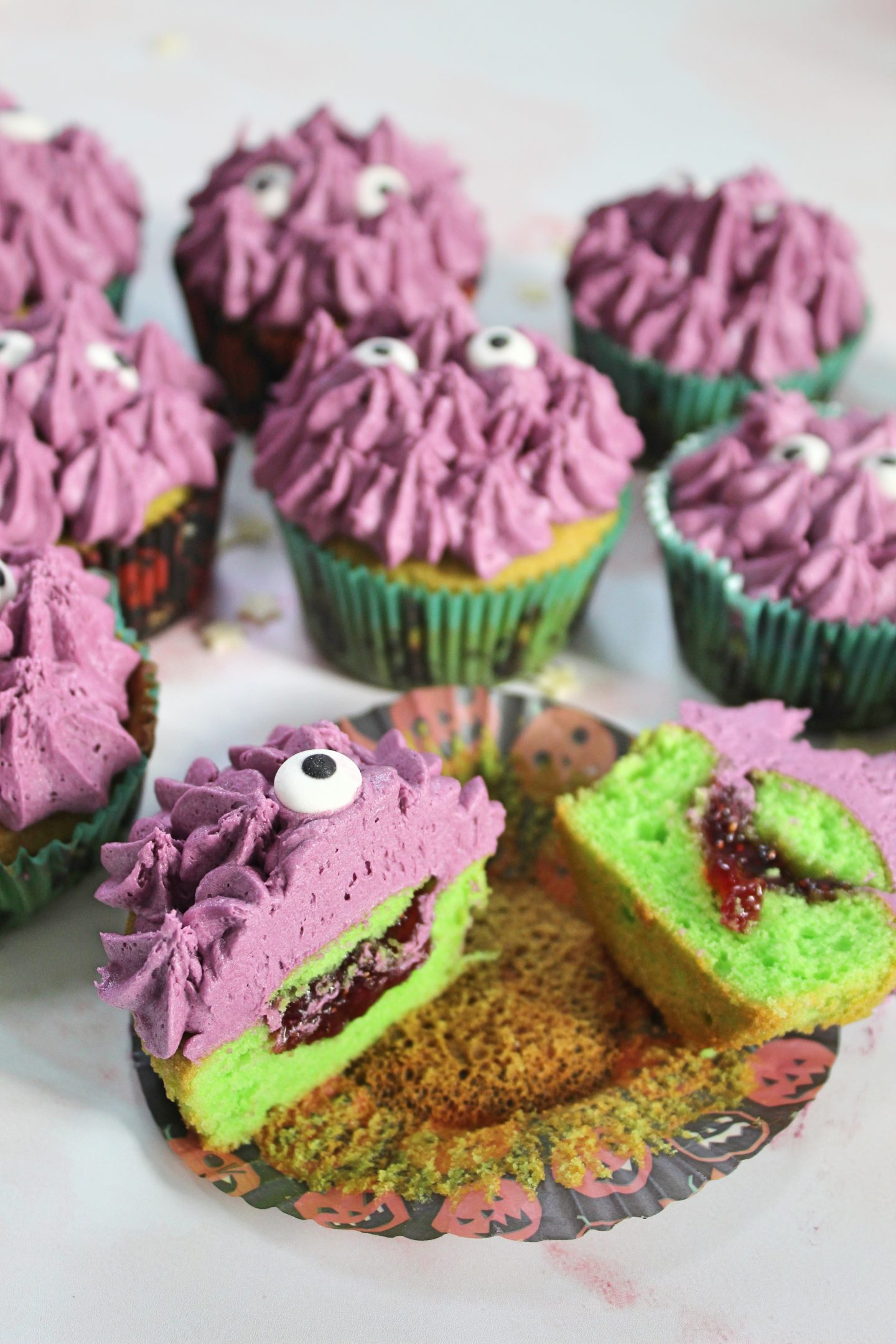 GLUTEN FREE MONSTER CUPCAKES HALLOWEEN CAKES 103