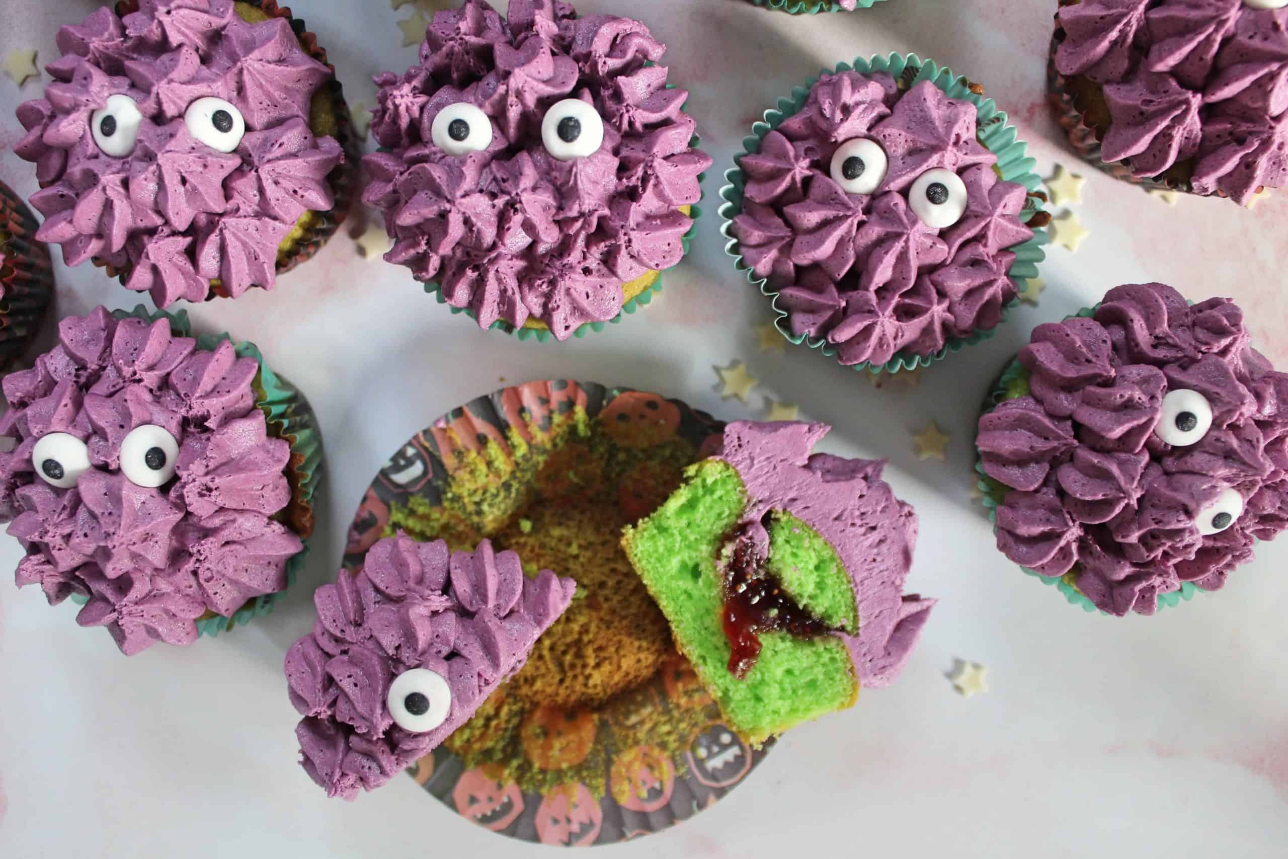 GLUTEN FREE MONSTER CUPCAKES HALLOWEEN CAKES 98