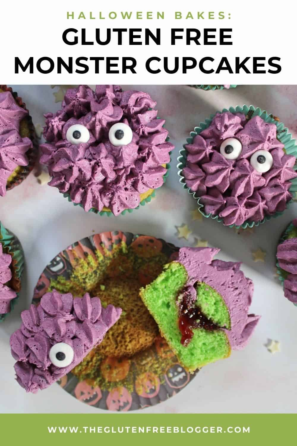 Halloween Monster Cupcakes with Gory Centres