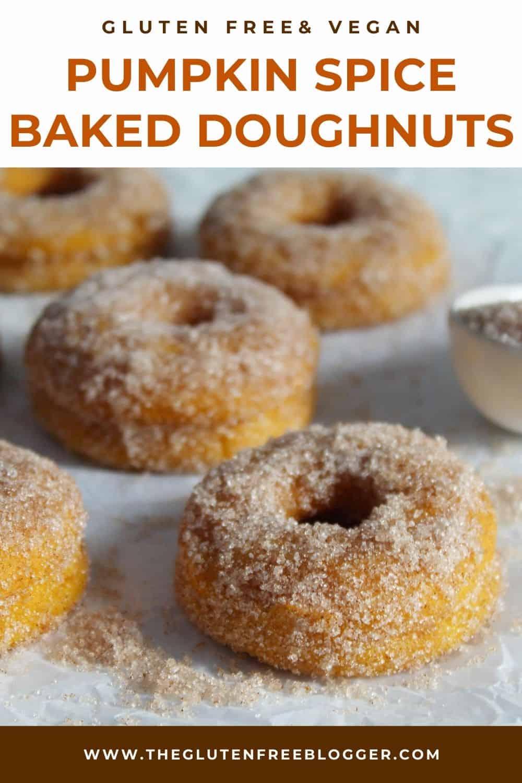 Pumpkin Spice Doughnuts - Gluten Free, Vegan and Dairy Free