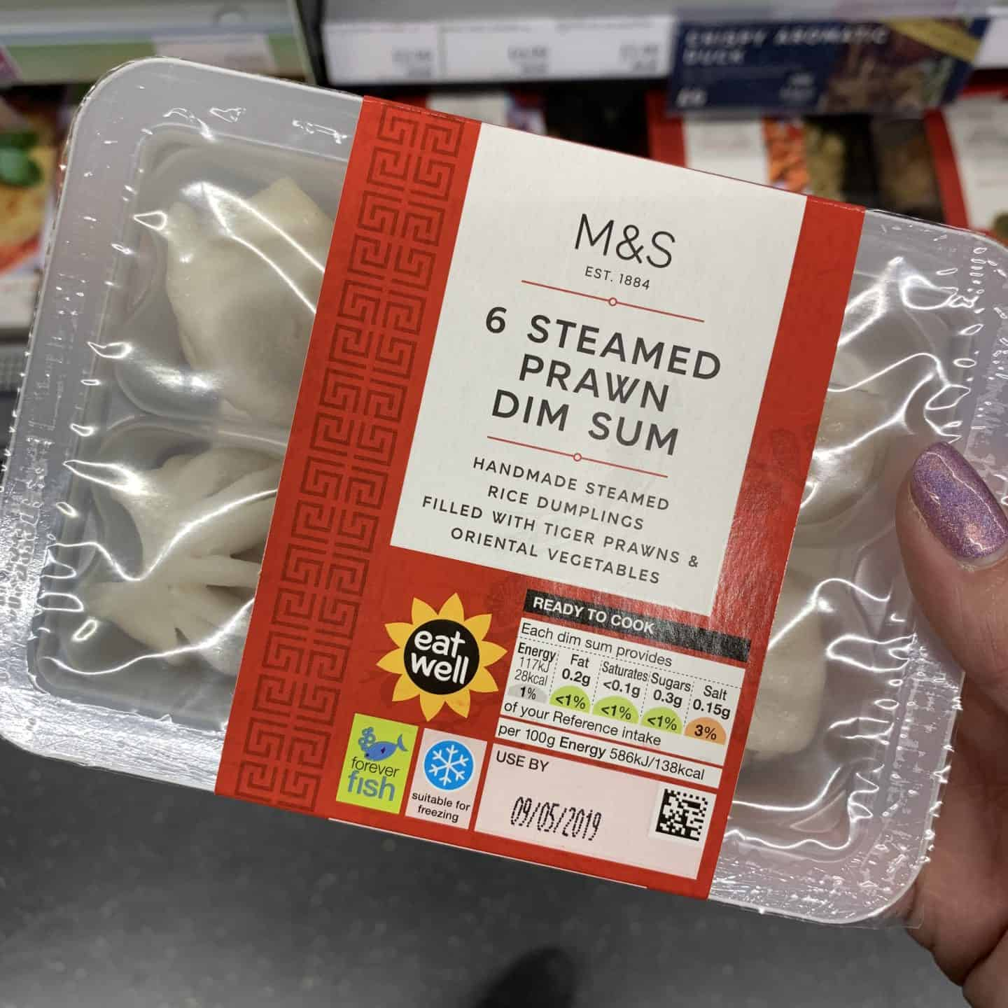 marks and spencers steamed prawn dim sum gluten free