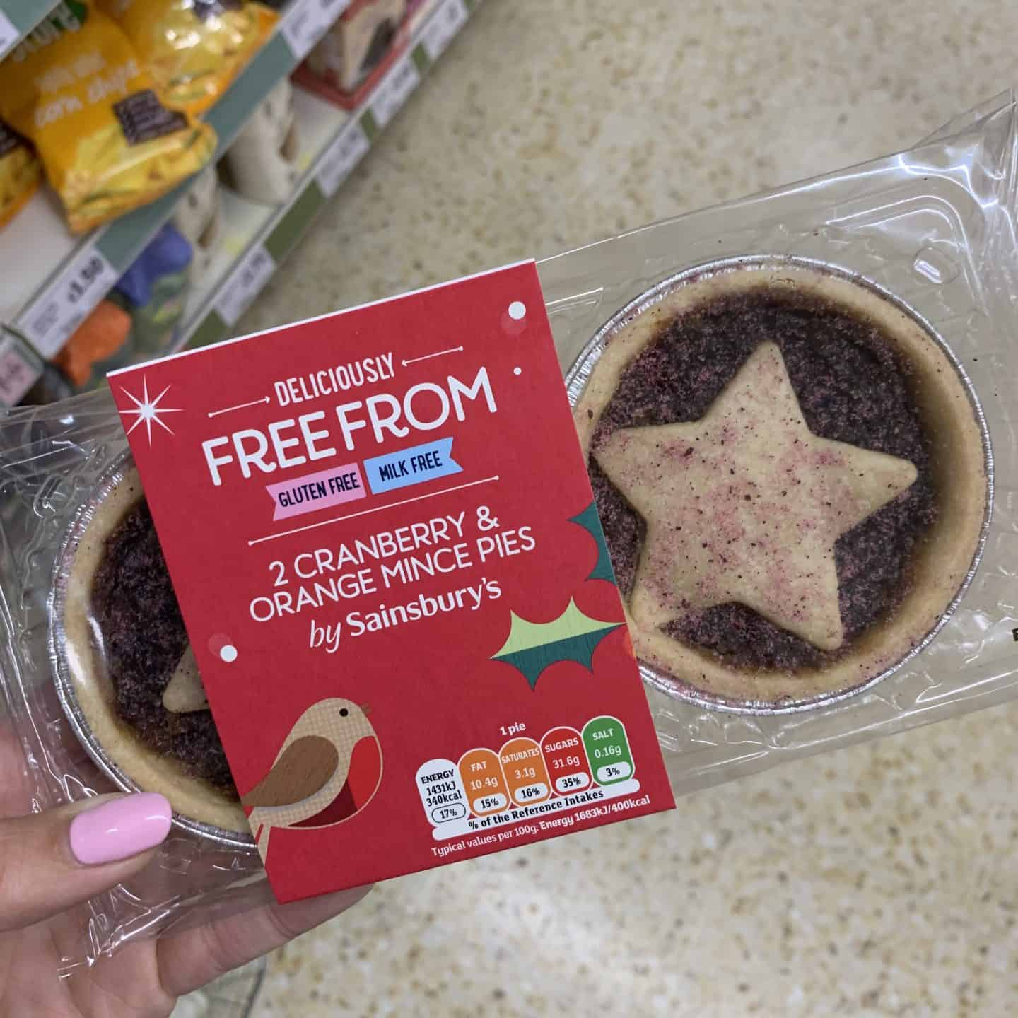 sainsburys gluten free mince pies cranberry and orange