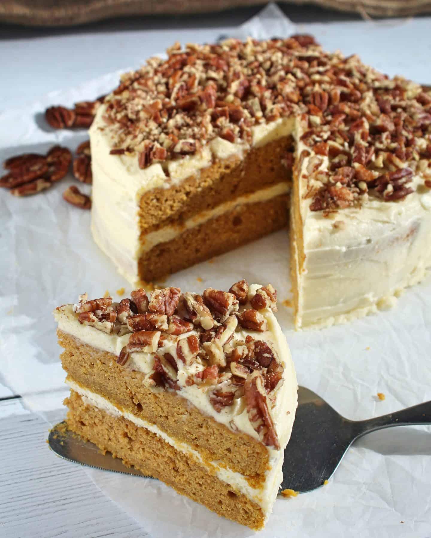 gluten free pumpkin spice latte cake recipe 150 CROP