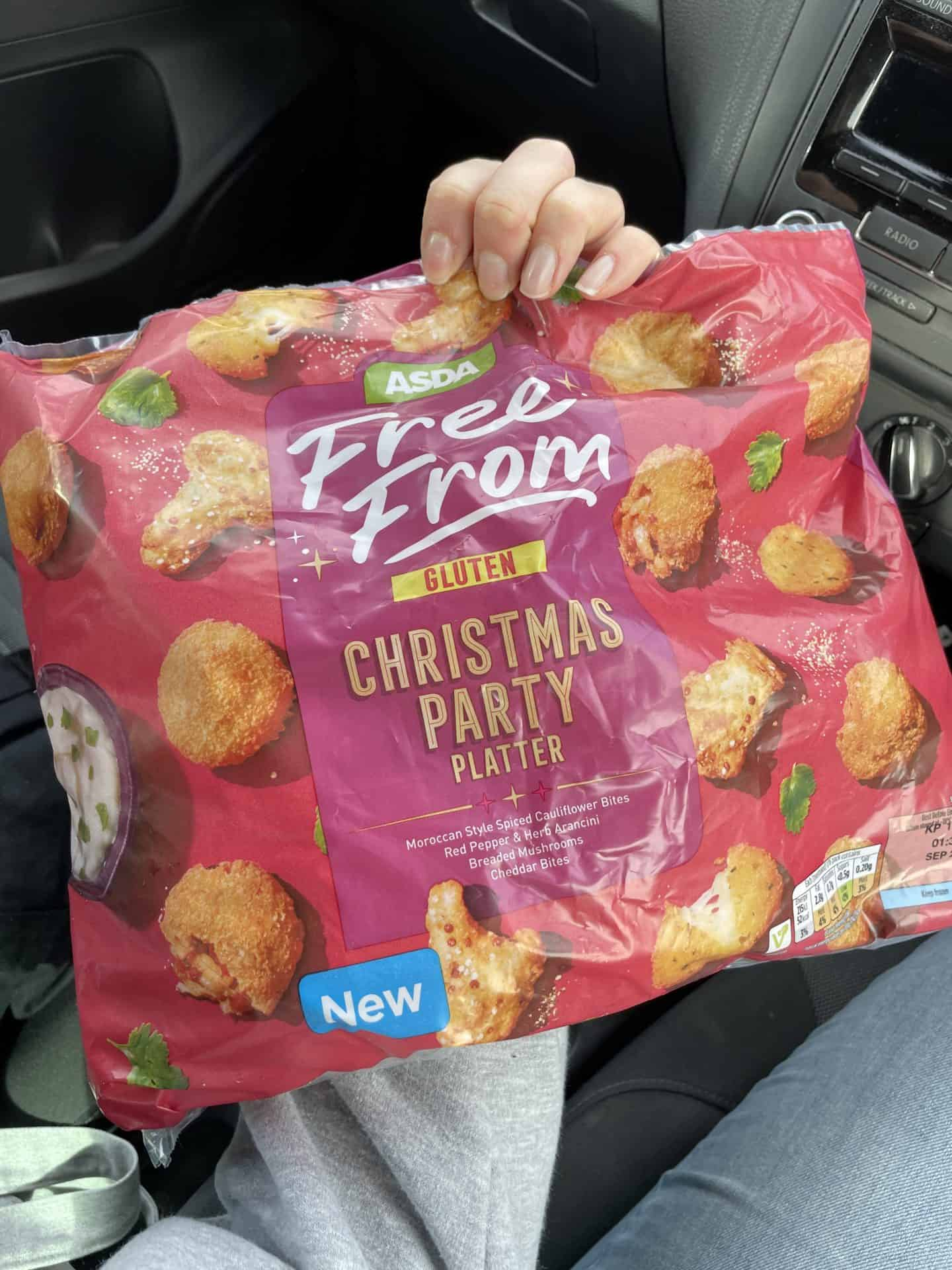 asda frozen free from party food christmas 2021