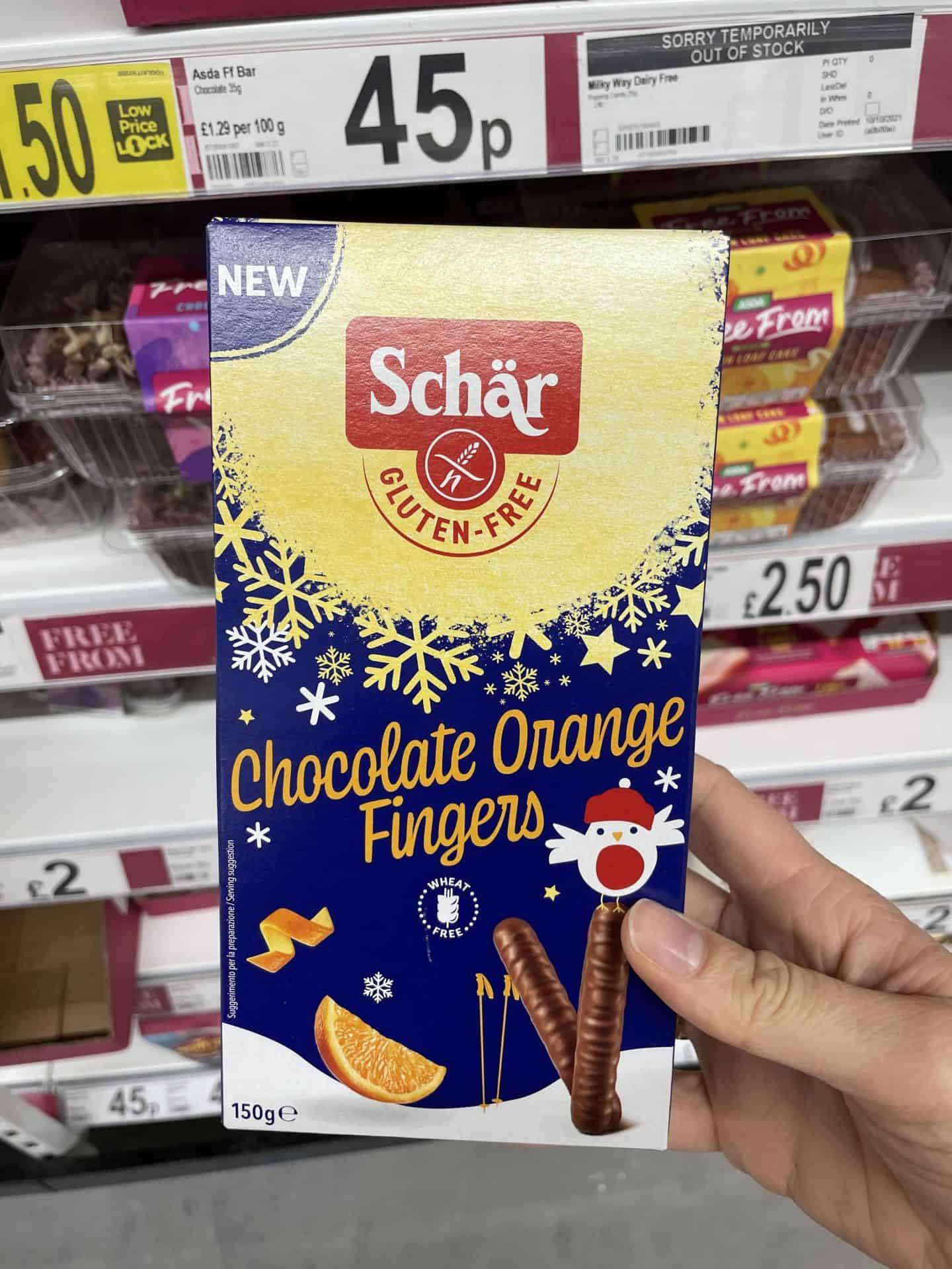 schar chocolate orange fingers