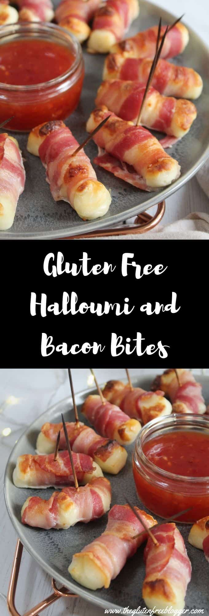 gluten free halloumi and bacon bites christmas party food recipe inspiration ideas