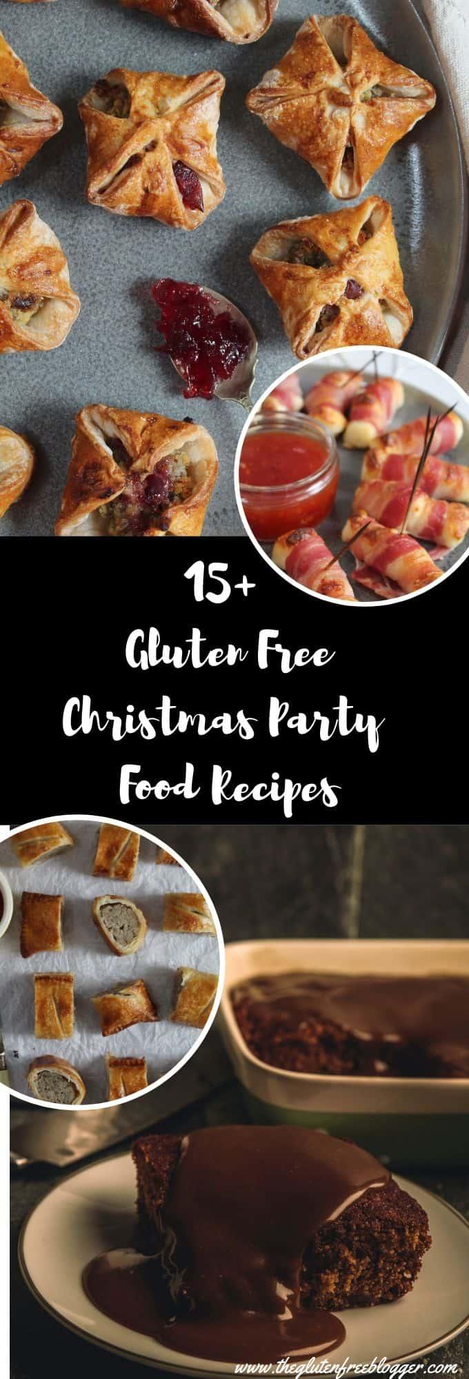 gluten free christmas party food recipe round-up ideas dairy free coeliac