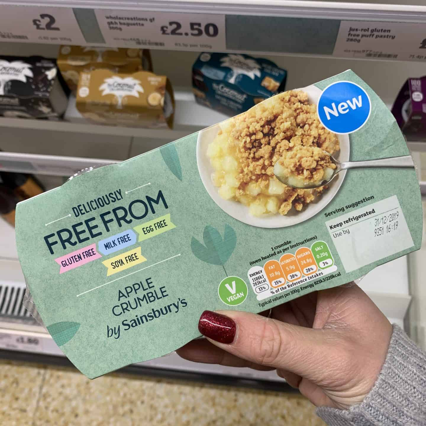 sainsburys gluten free vegan apple crumble